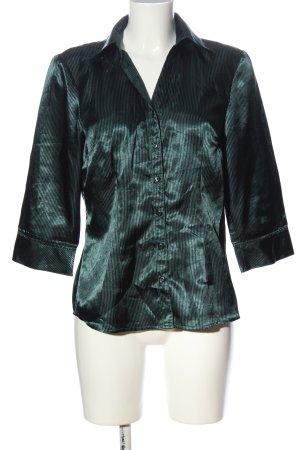 b.p.c. Bonprix Collection Camicetta a maniche lunghe turchese-nero stile casual