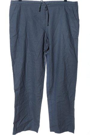 b.p.c. Bonprix Collection Pantalón de lino azul look casual