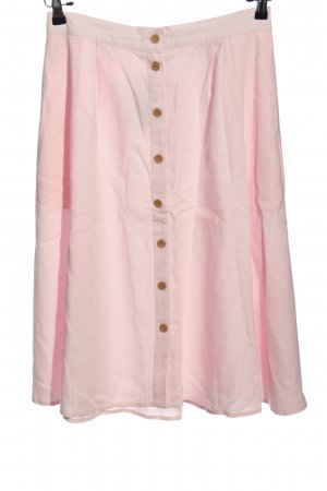 b.p.c. Bonprix Collection Leinenrock pink Casual-Look
