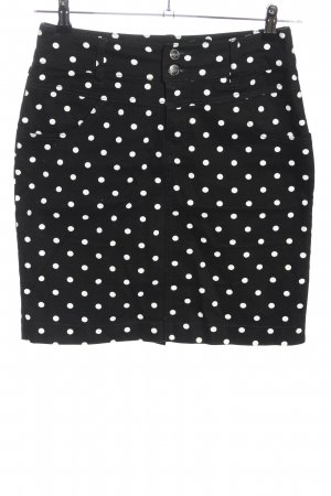 b.p.c. Bonprix Collection Miniskirt black-white spot pattern casual look