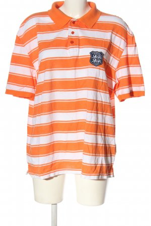 b.p.c. Bonprix Collection Polo Shirt light orange-white allover print