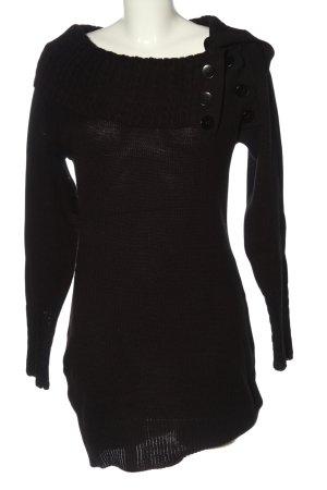 b.p.c. Bonprix Collection Pulloverkleid braun Zopfmuster Casual-Look