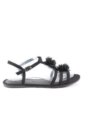 b.p.c. Bonprix Collection Sandales à talons hauts et lanière noir