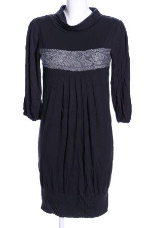 b.p.c. Bonprix Collection Shirtkleid schwarz-hellgrau Casual-Look