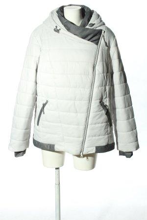 b.p.c. Bonprix Collection Steppjacke weiß-hellgrau Steppmuster Casual-Look