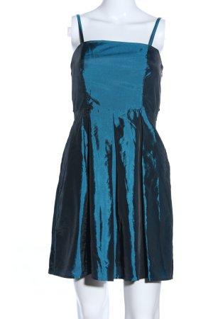 b.p.c. Bonprix Collection Trägerkleid blau Glanz-Optik