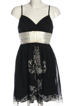 b.p.c. Bonprix Collection Trägerkleid schwarz-wollweiß Motivdruck Elegant