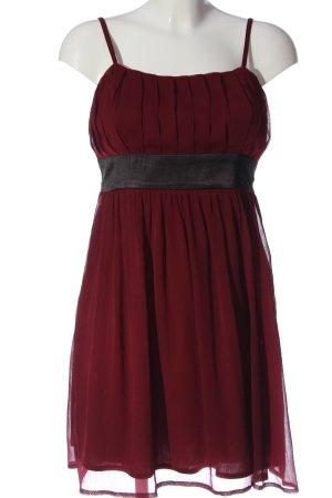 b.p.c. Bonprix Collection Trägerkleid schwarz-rot Streifenmuster Casual-Look