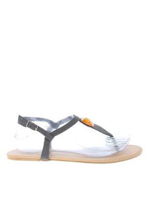 b.p.c. Bonprix Collection Sandalo toe-post grigio chiaro-oro stile casual