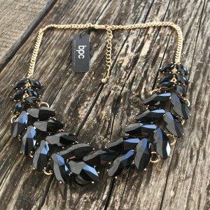 b.p.c. Halskette Collier gold goldfarben schwarz elegant schick Coachella Neu wunderschöne Halskette NEU Collier mit Etikett