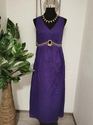 b.p.c. Selection Damen Maxikleid Oriental Sommerkleid lila Abendkleid Größe 40