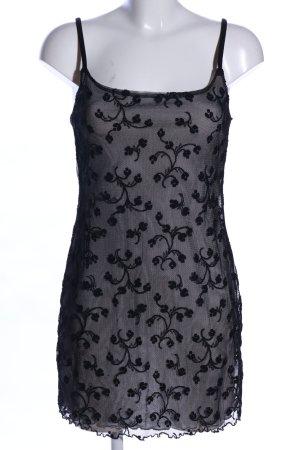 B.Style Minikleid schwarz abstraktes Muster Elegant
