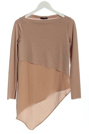 B/W Zara Collection Bluzka tunika nude W stylu casual