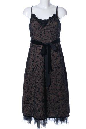 B.young A-Linien Kleid braun-schwarz Allover-Druck Elegant