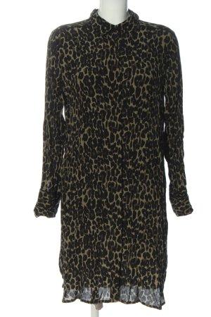 B.young Sukienka koszulowa khaki-czarny Na całej powierzchni W stylu biznesowym