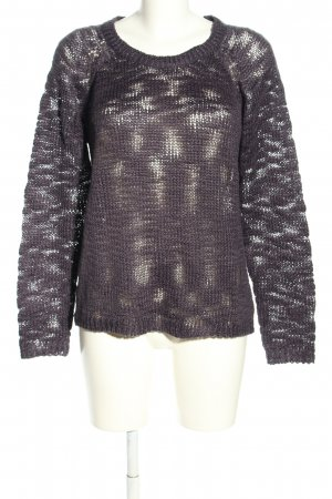 B.young Crochet Sweater light grey allover print casual look