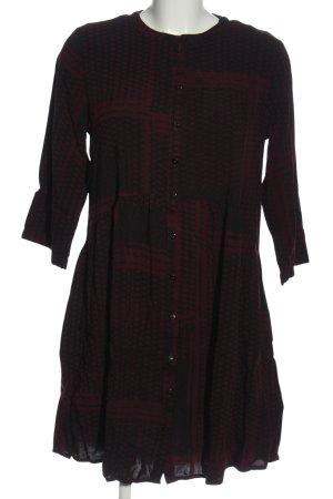 B.young Robe chemise noir-rouge imprimé allover style décontracté