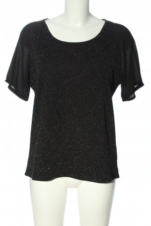 B.young Kurzarm-Bluse schwarz Casual-Look