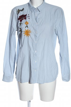 B.young Long Sleeve Shirt blue-white striped pattern casual look