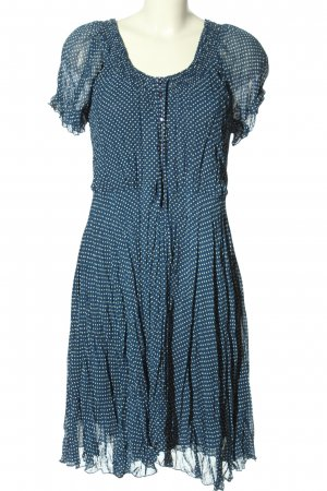B.young Robe mi-longue bleu-blanc imprimé allover style décontracté