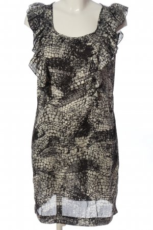 B.young Mini Dress black-light grey abstract pattern casual look