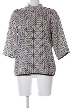 B.young Blouse oversized noir-gris clair motif graphique style décontracté