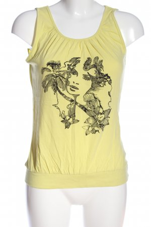 B.young Camicia fantasia giallo pallido Stampa a tema stile casual