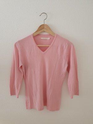 B.Young Pullover Feinstrick Viskose Nylon v Dreiviertel Arm rosa pink Oberteil Top Sommer