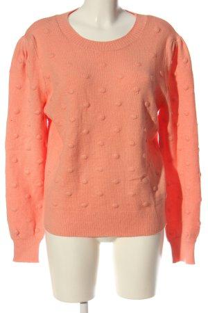 B.young Jersey de cuello redondo naranja claro look casual