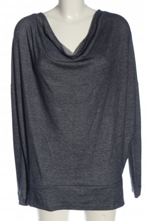 B.young Schlupf-Bluse hellgrau meliert Casual-Look