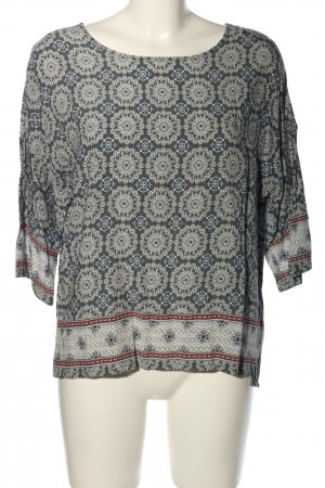 B.young Slip-over blouse lichtgrijs abstract patroon casual uitstraling