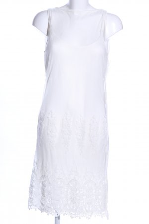 B.young Abito in pizzo bianco stile casual