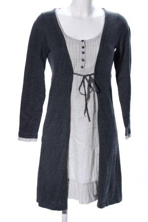 B.young Robe en maille tricotées noir-gris clair moucheté style d'affaires