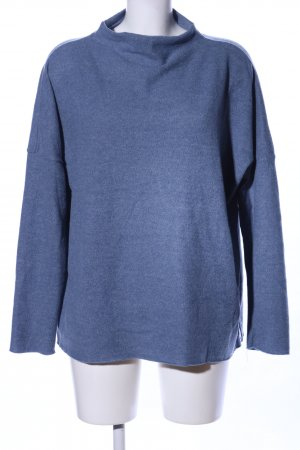B.young Strickpullover blau meliert Business-Look