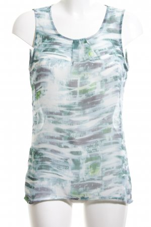 B.young Tank Top turquoise-white allover print athletic style