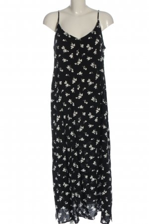 B.young Pinafore dress black-white flower pattern casual look