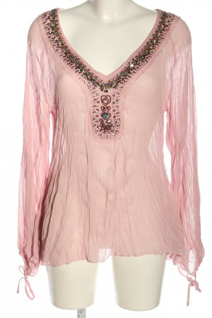 B.young Transparenz-Bluse pink Casual-Look