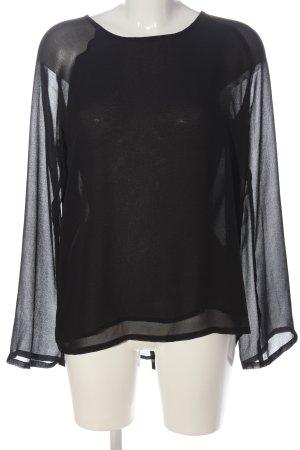 B.young Transparentna bluzka czarny W stylu biznesowym