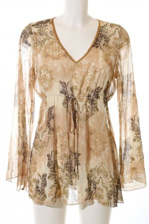 B.young Tunique-blouse brun-doré imprimé allover style décontracté