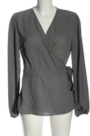 B.young Kopertowa bluzka czarny-biały Na całej powierzchni W stylu biznesowym