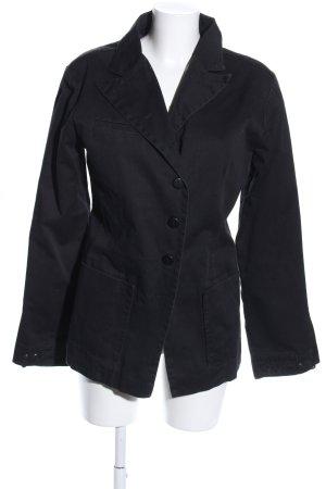 Spijkerblazer zwart casual uitstraling