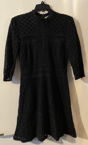 Ba&sh Robe trapèze noir coton
