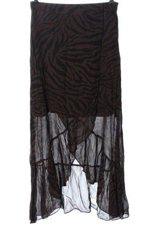 Ba&sh Asymetryczna spódniczka brązowy-czarny Abstrakcyjny wzór W stylu casual