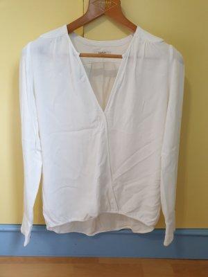 Ba&sh Bluzka z długim rękawem biały Bawełna