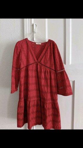 Ba&sh Sukienka typu babydoll czerwony