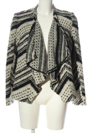 Ba&sh Kardigan czarny-w kolorze białej wełny Siateczkowy wzór W stylu casual