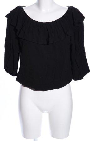 Ba&sh Bluzka typu carmen czarny W stylu casual