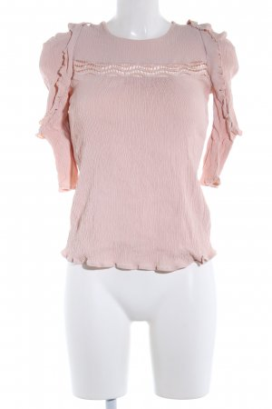 Ba&sh Blusa estilo Crash rosa look casual