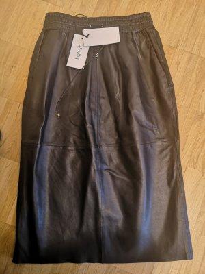 Ba&sh Leather Skirt black