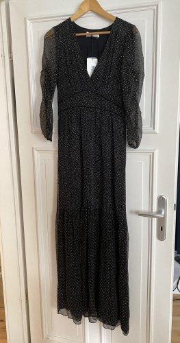 Ba&sh Sukienka maxi czarny Jedwab